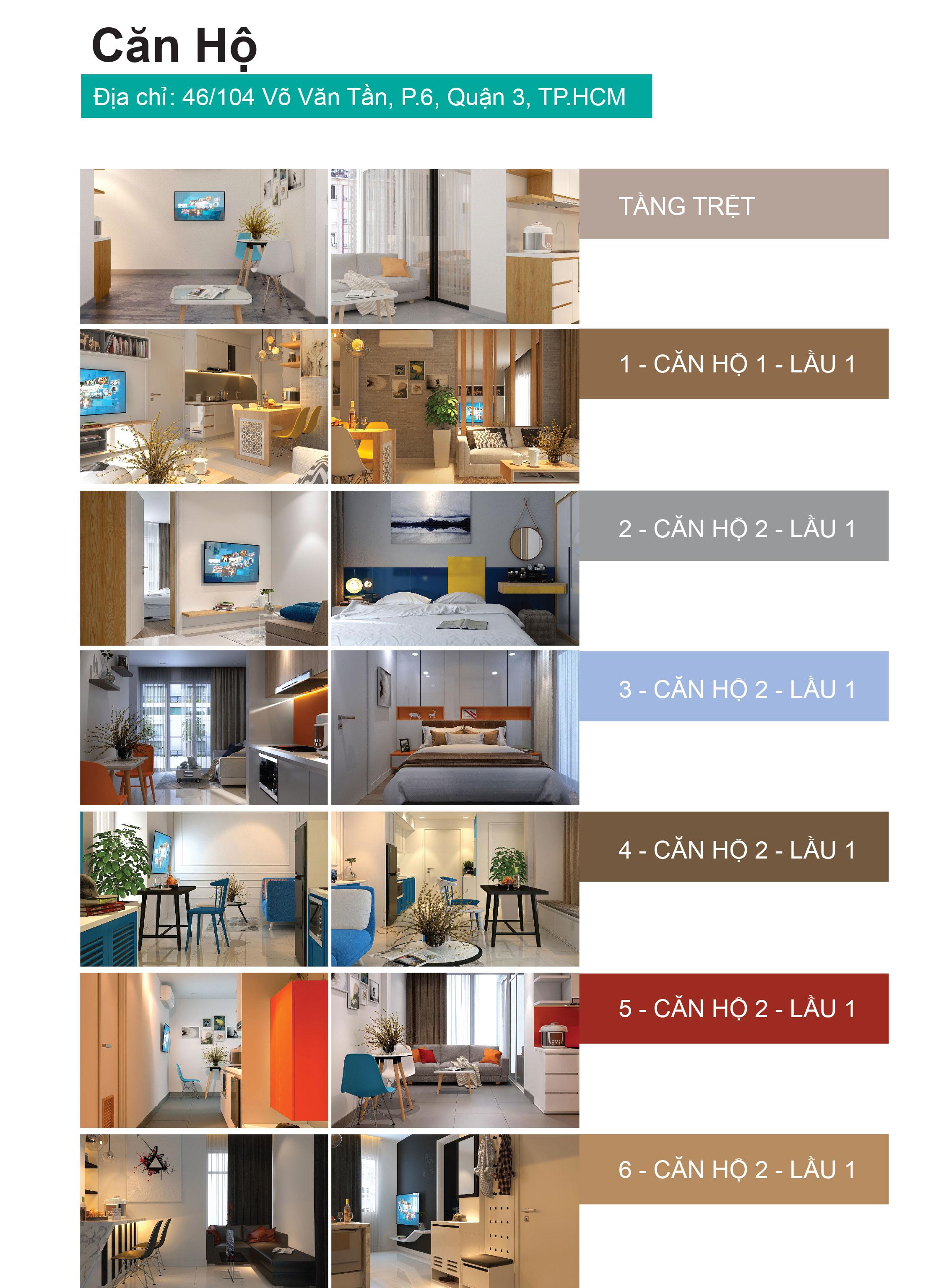 Bảng giá căn hộ cho thuê quận 3 Estar